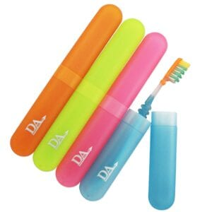 Toothbrush Case x 4 ~ Pink, Blue, Green & Orange