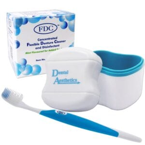 FDC Flexible Denture Cleaner, Bath & Sili Brush