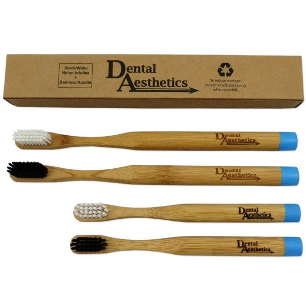 Toothbrushes ~ Adult Bamboo DA B&W Family Pack