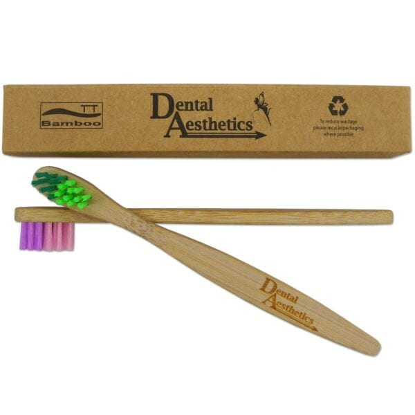 Childrens Toothbrushes ~ Bamboo DA Tiny Colour Blend