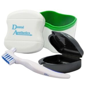 Denture Bath, retainer Case & Brush