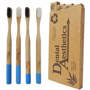 Toothbrushes ~ Adult Bamboo DA Black & White